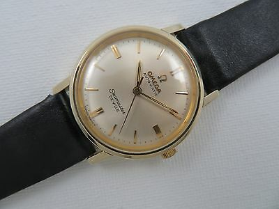 1964 Boy Size OMEGA SEAMASTER DEVILLE AUTOMATIC Wristwatch 14K Gold Filled