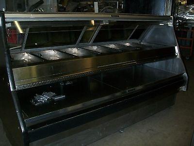 FOOD WARMER/MERCHANDISER, DOUBLE DECKS,7 PANS, ELECTRIC,1 PH, 900 ITEMS ON E BA
