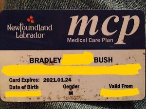 Lost and Found MCP Card  St. John's Newfoundland image 1