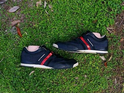 Adidas Y-3 YOHJI YAMAMOTO D66178 BOXING DENIM TRAINER SHOES BLACK/RED MENS 12.5 for sale  Shipping to Canada
