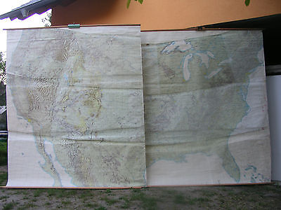 Wall Map United States USA Wall Map Highways Cities Villages 452x275c ~ 1965