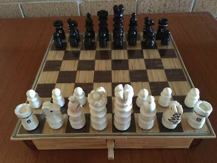 Hand Crafted Chess Set With Single Action Double Opening Draws Paradise Point Gold Coast North Preview
