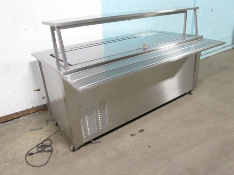 """CARTER HOFFMANN"" CAFETERIA STYLE REFRIGERATED COLD PLATE TOP DESSERT STATION"