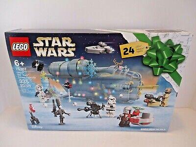 NEW!! Lego 75307 Star Wars Mandalorian 2021 Advent Calendar Set with Baby Yoda