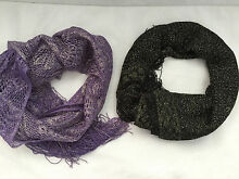 Lace scarf set (Purple gold and black gold) Yeronga Brisbane South West Preview