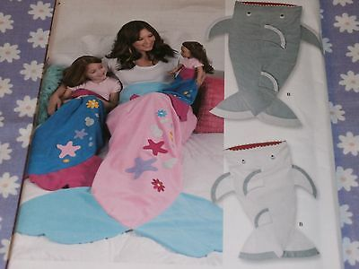 SIMPLICITY 8275 SHARK & MERMAID BLANKETS FOR CHILD-ADULT-18