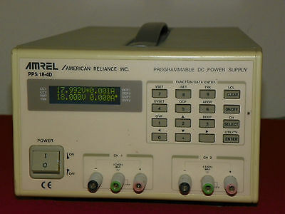 Amrel Pps 18-4d Dual Output Programmable Dc Power Supply