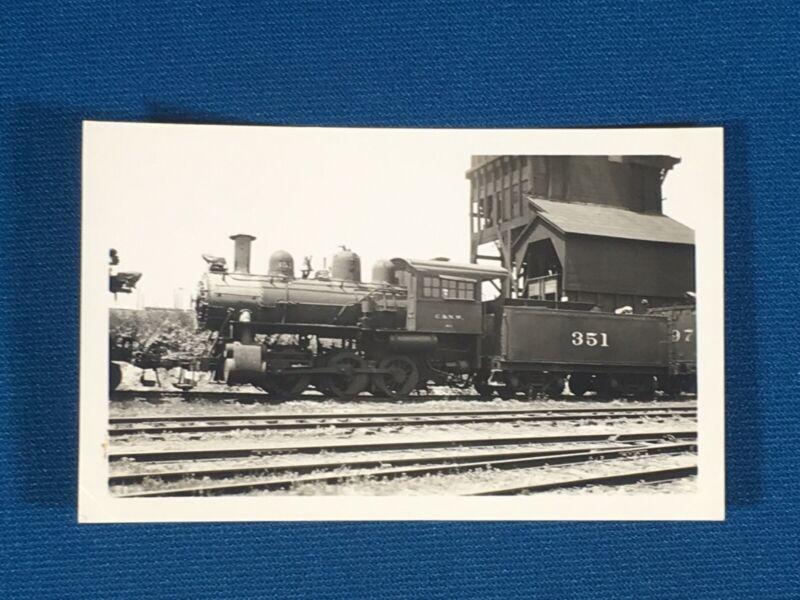 Chicago & North Western Railway Train Engine Locomotive No. 351 Antique Photo