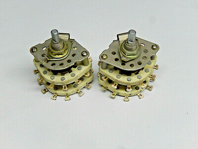 Ceramic Rotary Switches 2 Pole 10 Positions Lot Of 2pcs
