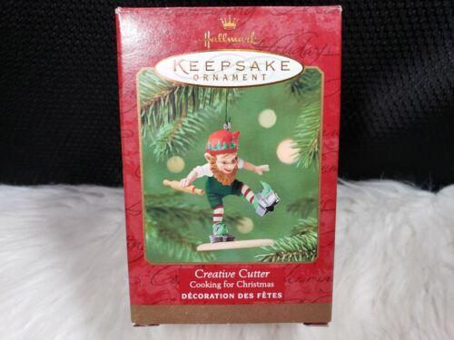 2001 Hallmark Keepsake Ornament Creative Cutter Elf - Cooking For Christmas
