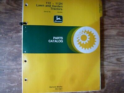 John Deere 112 112h Lawn Garden Tractor Parts Catalog Manual Pc-1027 Sn -100000