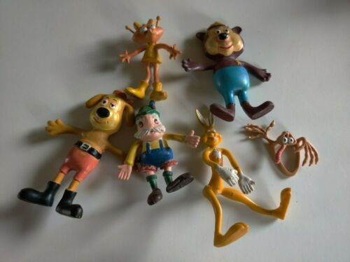 Vintage Bendy rubber Dudley Do-right Wham-O 1972 figures