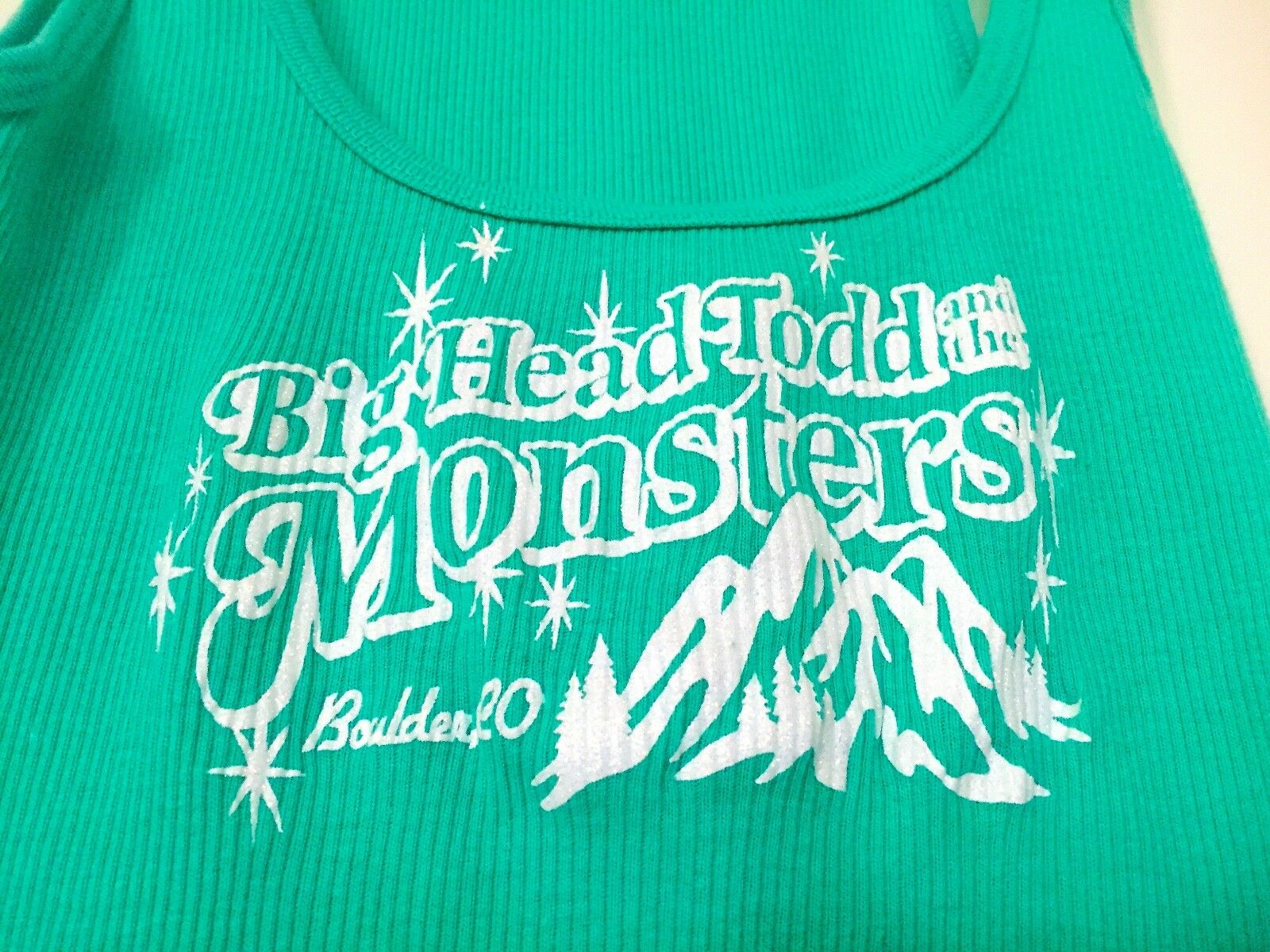 BIG HEAD TOOD THE MONSTERS BAND ORIGINAL CONCERT RARE MINT SMALL TANK T-SHIRT  - $25.00