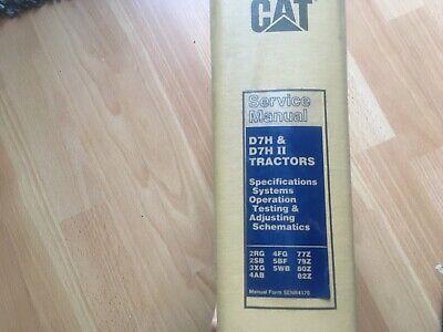Caterpillar D7h D7h Ii Tractor Factory Service Manual Oem 2rg - 82z