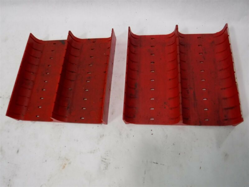 "Used Lot 16 LISTA X1646 Slotted Groove Trays Divider 6"" x 6"" x 1"" B"