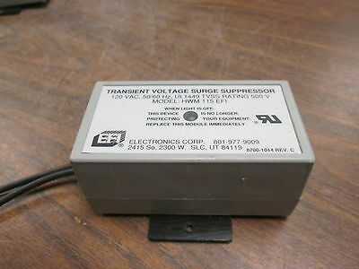 Efi Transient Voltage Surge Suppressor Hwm 115 Efi 120v 5060hz Rating500v Used