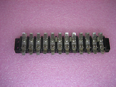 Lot Of 8 Marathon 12-pole Double Row Terminal Blocks W Quick Connects 672-gp-12