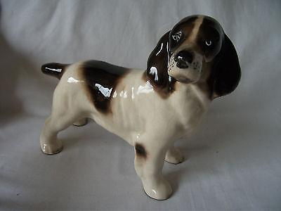 Vintage pottery Model of a Spaniel Dog Ref 618