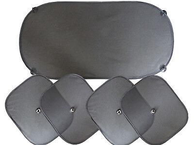 Autosonnenschutz Set 5 tlg. Auto Sonnenblende 4xSeiten und Heck
