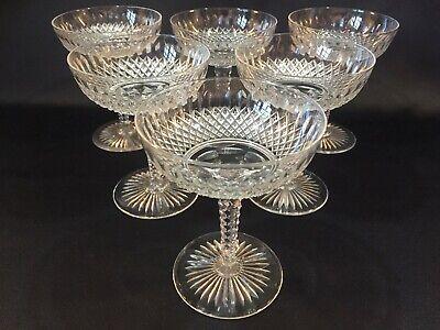 6 coupes à champagne en cristal Modèle BORIS taillé. H:125 mm Val Saint Lambert