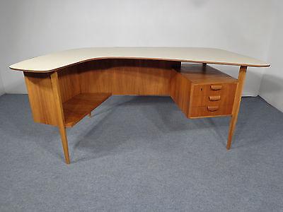 Boomerang Schreibtisch 40/50er Jahre 50s Vintage Desk