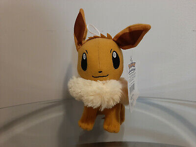 "Eevee Pokemon Plush Sun Moon 6"" Inch New Licensed Pokemon Toy Factory"