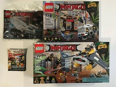 LEGO Ninjago Movie Lot of 4: Manta Bomber, City Chase, Polybag & Minifig BNIP