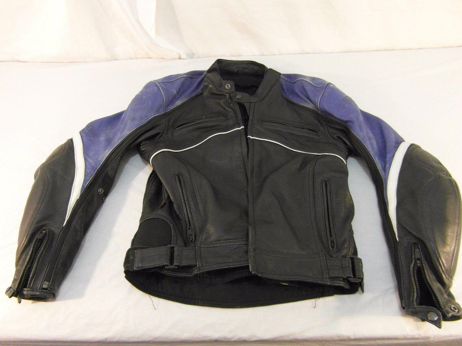 Adult Men's Rocket Racing Motorcycle Stuntman Blue Black THICK Jacket 30955
