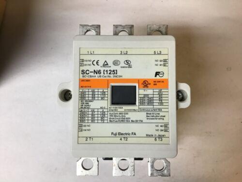 Fuji SC-N6 (125) Contactor 100-127V AC/100-120V DC Coil-NIB