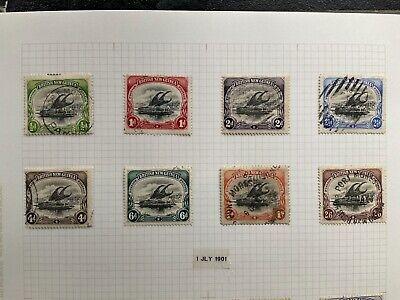 "British New Guinea Papua 1901 ""Lakatoi"" Complete Set 8 Values to 2/6 VFU SG 1-8"