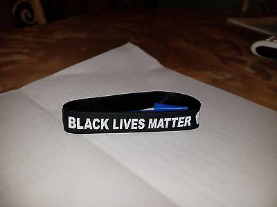 BLACK LIVES MATTER WRISTBANDS/BRACELET / NO JUSTICE NO PEACE