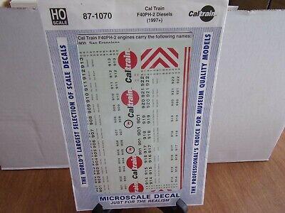 HO MICROSCALE 87-1070 CAL TRAIN F40PH-2 DIESELS DECAL SET