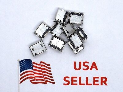 Micro Usb Type B Female 5 Pin Smt Socket Jack Connector 10 Pieces Usa Seller