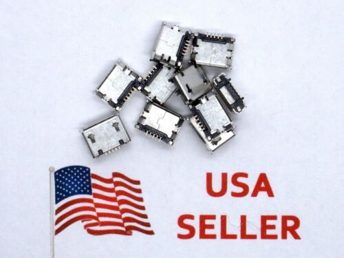 Micro USB Type B Female 5 Pin SMT Socket Jack Connector (10 Pieces) USA SELLER