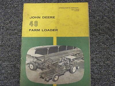 John Deere 48 Front End Farm Loader Owner Operator Maintenance Manual Om-c19515