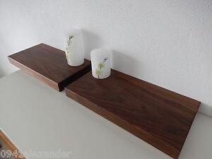 2x wandboard nussbaum massiv holz board regal steckboard regalbrett neu auf ma ebay. Black Bedroom Furniture Sets. Home Design Ideas