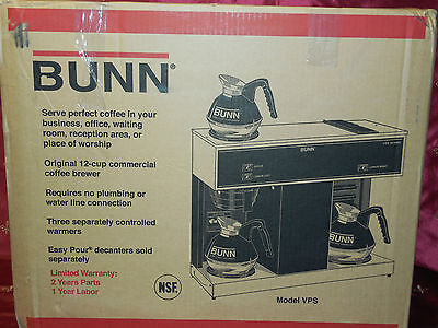 Bunn Vps Pour Over 04275.0031 12 Cup Coffeecoffee Brewer Vpr