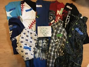 Size 6 lot of boy clothes