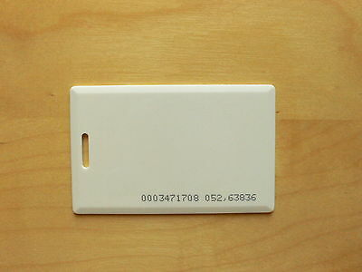 10x RFID Clamshell Card Tag, 125kHz, EM4102 Read-only