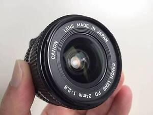 Canon FD 24mm f/2.8 manual focus lens for FD mount **NEAR MINT** Haymarket Inner Sydney Preview