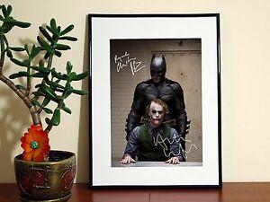 BATMAN JOKER CHRISTIAN BALE HEATH LEDGER SIGN - A4 Glossy Poster - FREE Shipping