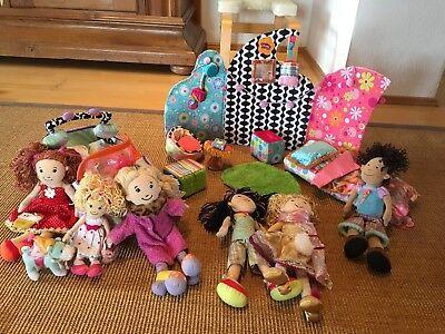 Manhattan Toy Groovy Girls Welt, mit 6 Puppen, Haus, Auto, Bett, Hund, etc. Groovy Girl Puppen
