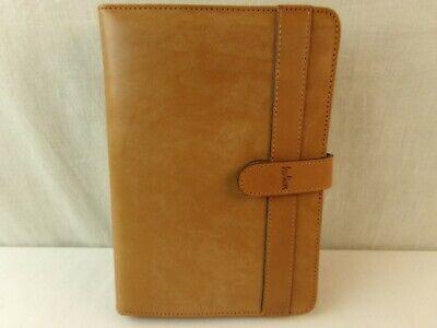 Hartmann Tan Leather Planner Portfolio Organizer Folder 1997