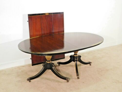 BAKER Furniture Co Chinoiserie Regency Mahogany Dining Table w 3 Leaves