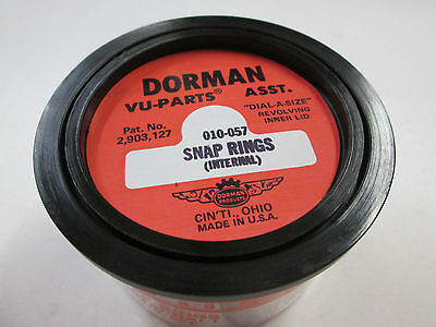 Dorman Products Internal Snap Ring Assortment Dial A Size Container