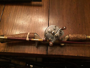 Pfleuger Akron 1893L Fishing Reel and Vintage Rod Combo