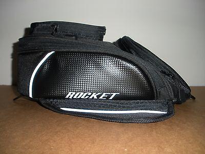 JOE ROCKET MANTA MAGNETIC MOTORCYCLE TANK BAG BLACK Carbon Look Motorcycle Magnetic Tank Bag Luggage