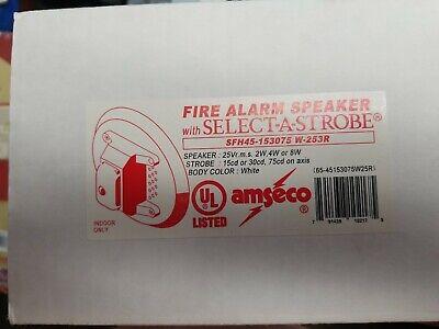 Fire Alarm Speaker Select A Strobe Sfh45-153075 W-253r New White