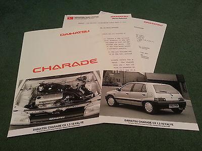 April 1989 DAIHATSU CHARADE 1.3 16 VALVE - UK PRESS RELEASE + PHOTOS - BROCHURE