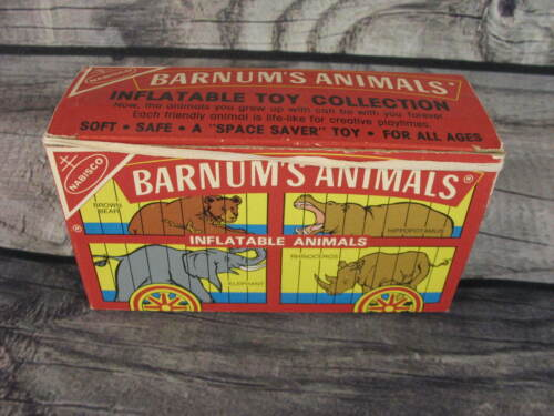 Nabisco Barnum Circus Animal Cookie Collectible Box Inflatable Kangaroo